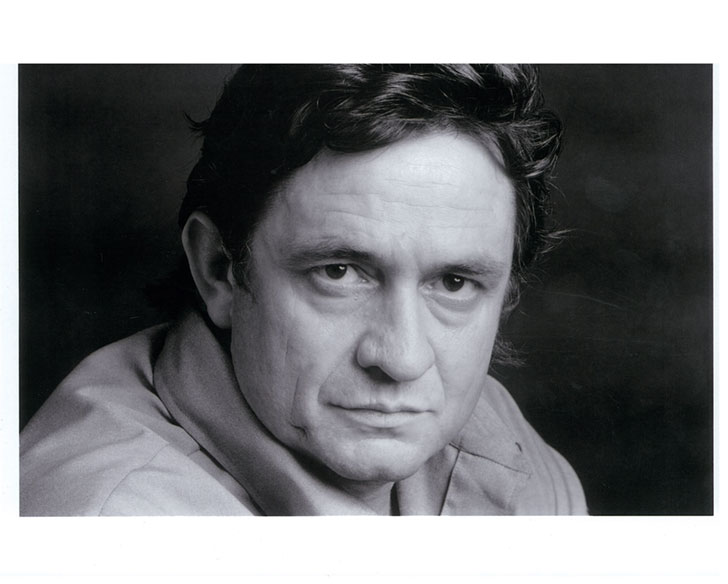 Johnny Cash 1969 Head Shot