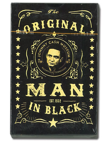 Johnny Cash Museum Black Standard-Size Playing Cards