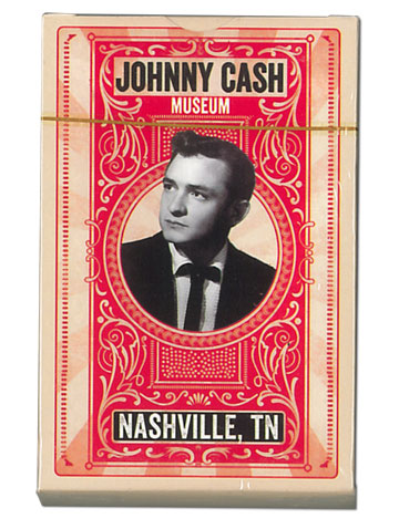 Johnny Cash Museum Red Standard-Size Playing Cards