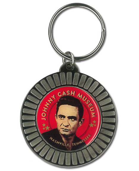Johnny Cash Museum Poker Chip Keychain