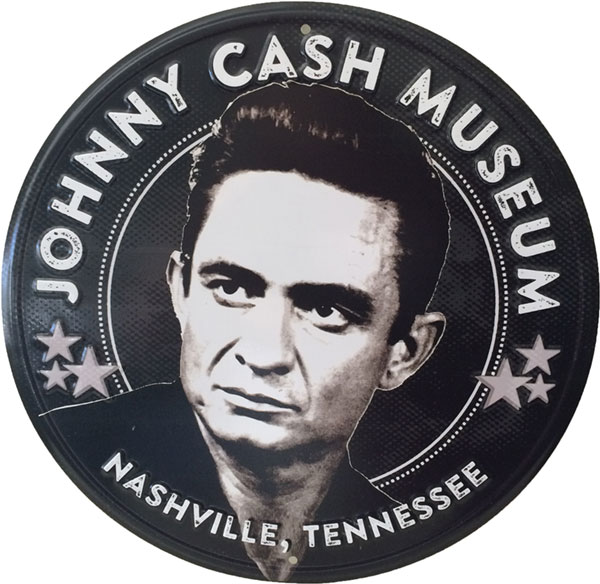 Johnny Cash Museum 11-in Tin Sign