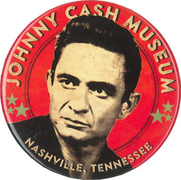 Johnny Cash Museum Button in Red or Black