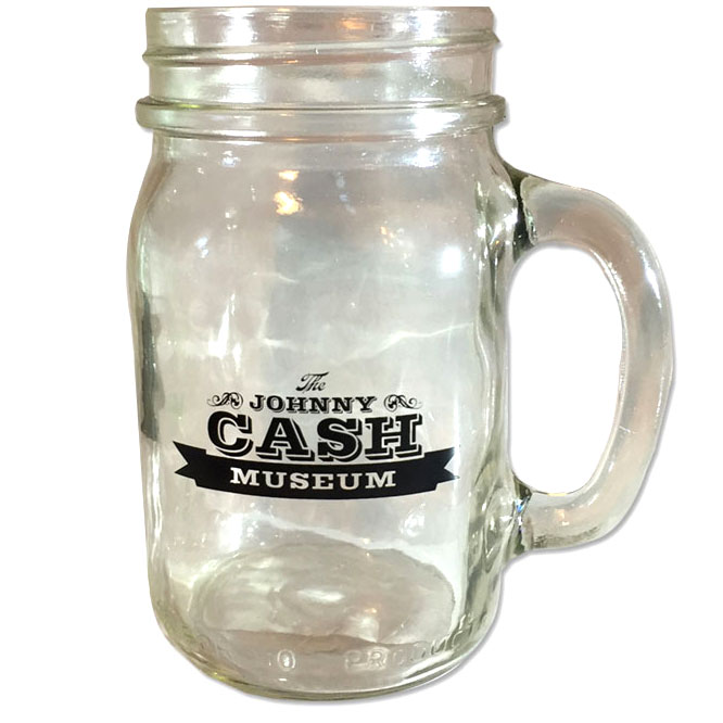 Johnny Cash Museum Mason Jar Drinking Glass