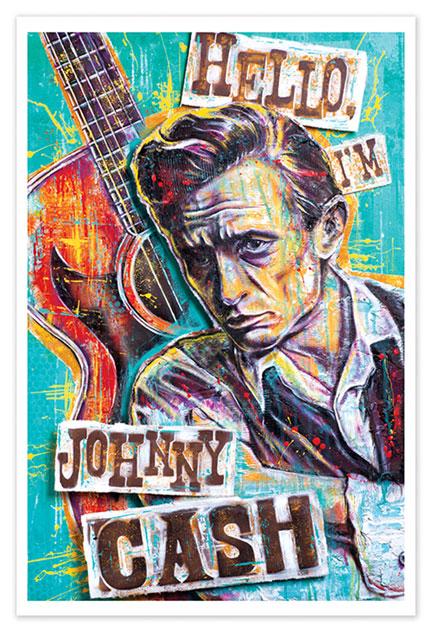 Hello, I'm Johnny Cash Print