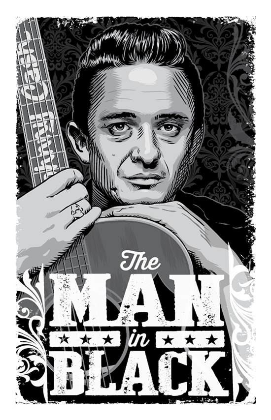 Man in Black 11x17 Print