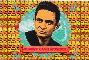 Johnny Cash Museum Banner Postcard