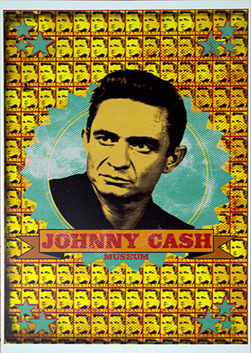 Johnny Cash Museum Banner Poster