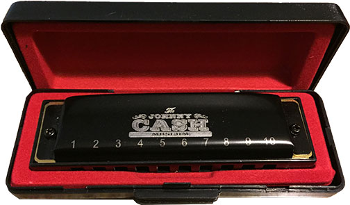Johnny Cash Museum Black Hohner Harmonica