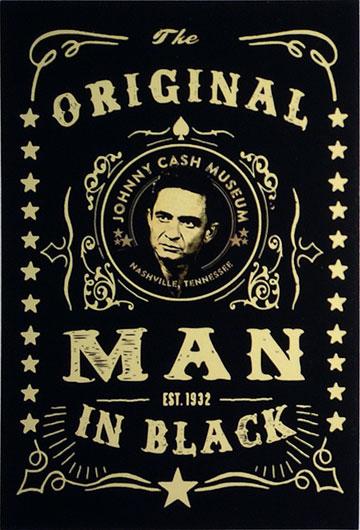 Johnny Cash Museum Black Postcard