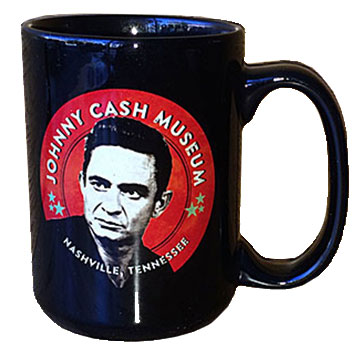 Johnny Cash Museum Black 15 oz. Coffee Mug