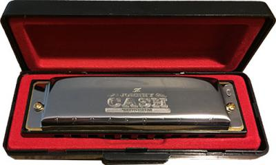 Johnny Cash Museum Silver Hohner Harmonica