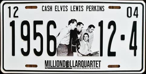 Million Dollar Quartet 1956 License Plate