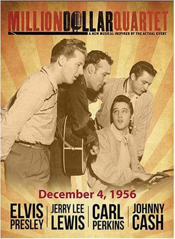 Million Dollar Quartet Sepia Magnet | Johnny Cash