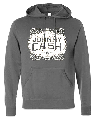 Emblem Hooded Pullover in Grey