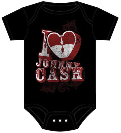 I Love Johnny Cash Onesie