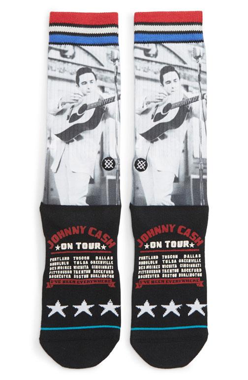 Johnny Cash On Tour Socks Size Large