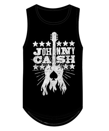 Woodcut Guitar Muscle Tank