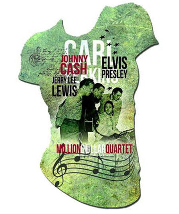 Million Dollar Quartet Ladies Tee