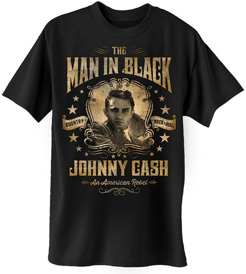 Johnny Cash MIB American Rebel T-shirt