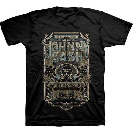 Johnny Cash Guitar Pick Rebel T-shirt