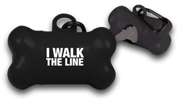 I Walk The Line Dog Pickup Bag Dispenser