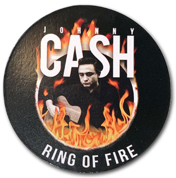 Johnny Cash Ring of Fire Magnet
