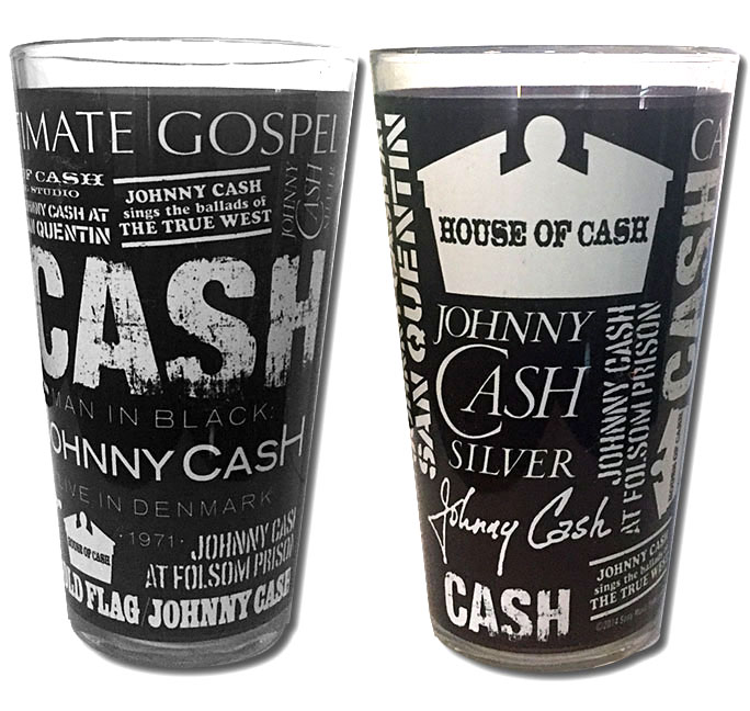 Johnny Cash Words Pint Glass