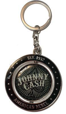 Johnny Cash Ace of Spades Spinner Keychain