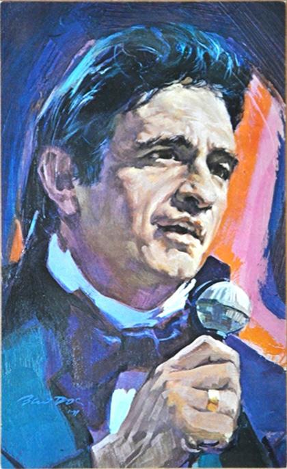 1970's Johnny Cash Fan Club Postcard (5x8.5)