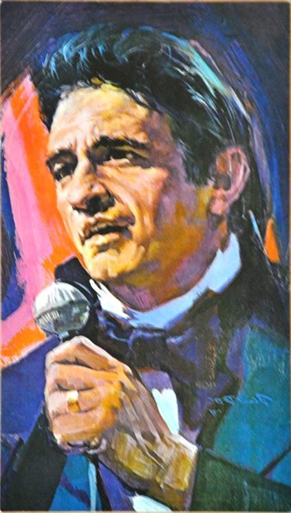 1970's Johnny Cash Fan Club Postcard (5x9)