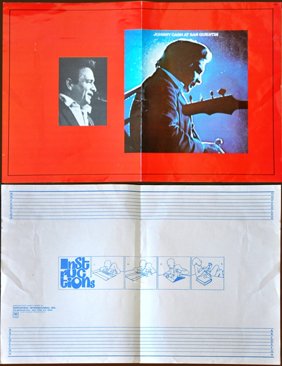 Rare 1969 Johnny Cash Book Cover