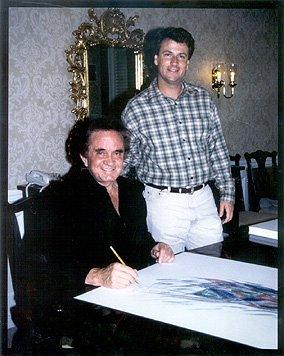 Johnny Cash Signing Flight with Bill Miller
