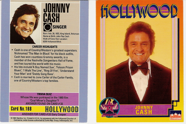 Rare Johnny Cash Hollywood Walk of Fame Trading Card