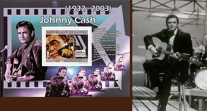 Johnny Cash Stamp Souvenir Sheet