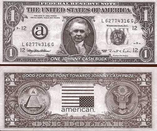 Rare American Recordings Promotional Johnny Cash Dollar Bill