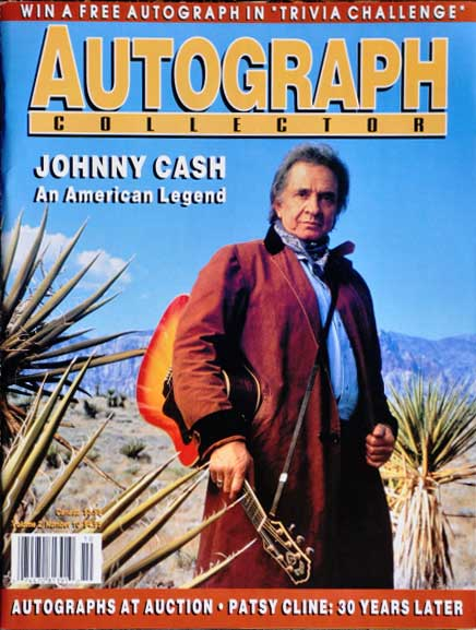 Autograph Collector Magazine Johnny Cash Cover Issue
