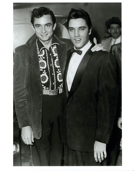 Cash & Elvis 1956 Photo