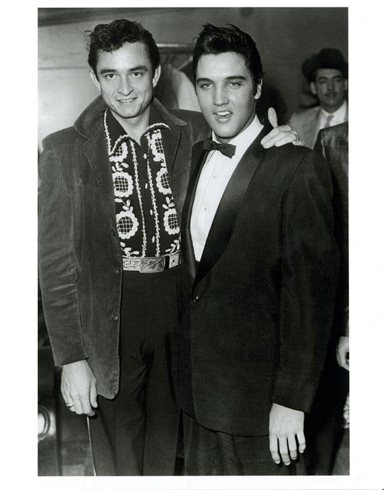 Johnny Cash and Elvis Presley 1956 8x10 Photo