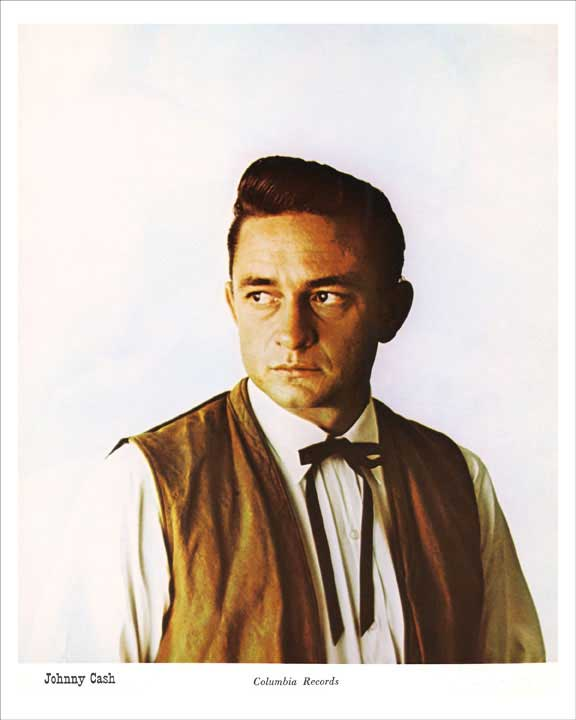 1960 Columbia Records Johnny Cash Publicity 8x10 Photo