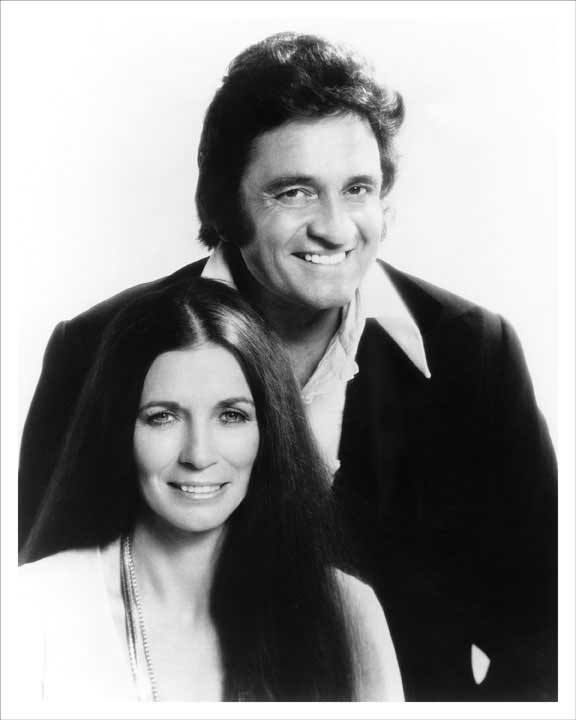 Johnny Cash and June Carter Cash 1973 8x10 Photo