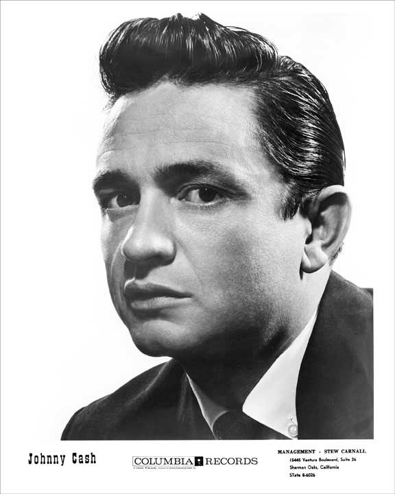 1958 Johnny Cash Columbia Records Publicity 8x10 Photo