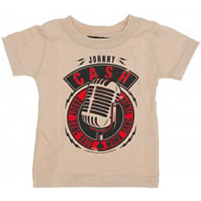 Johnny Cash Daddy Sang Bass Kid's Tee in Khaki