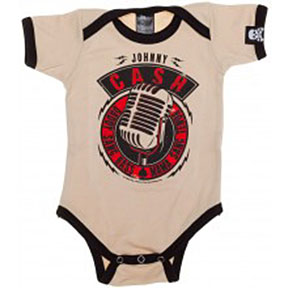 Johnny Cash Microphone Onesie