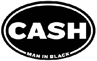 Cash Man In Black Sticker