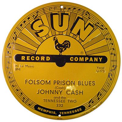 "Folsom Prison Blues 11"" Tin Sign"