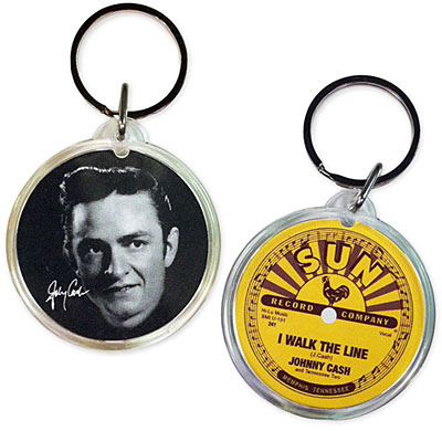 I Walk the Line Photo Key Chain